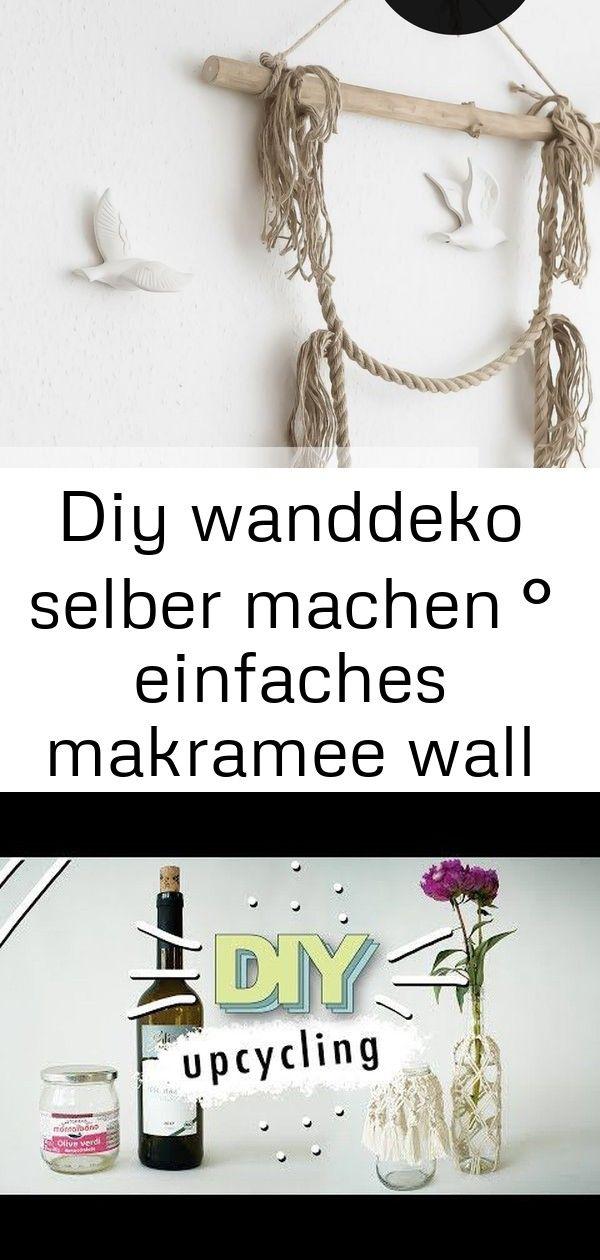 Diy wanddeko selber machen ° einfaches makramee wall hanging 41 #wanddekoselbermachen