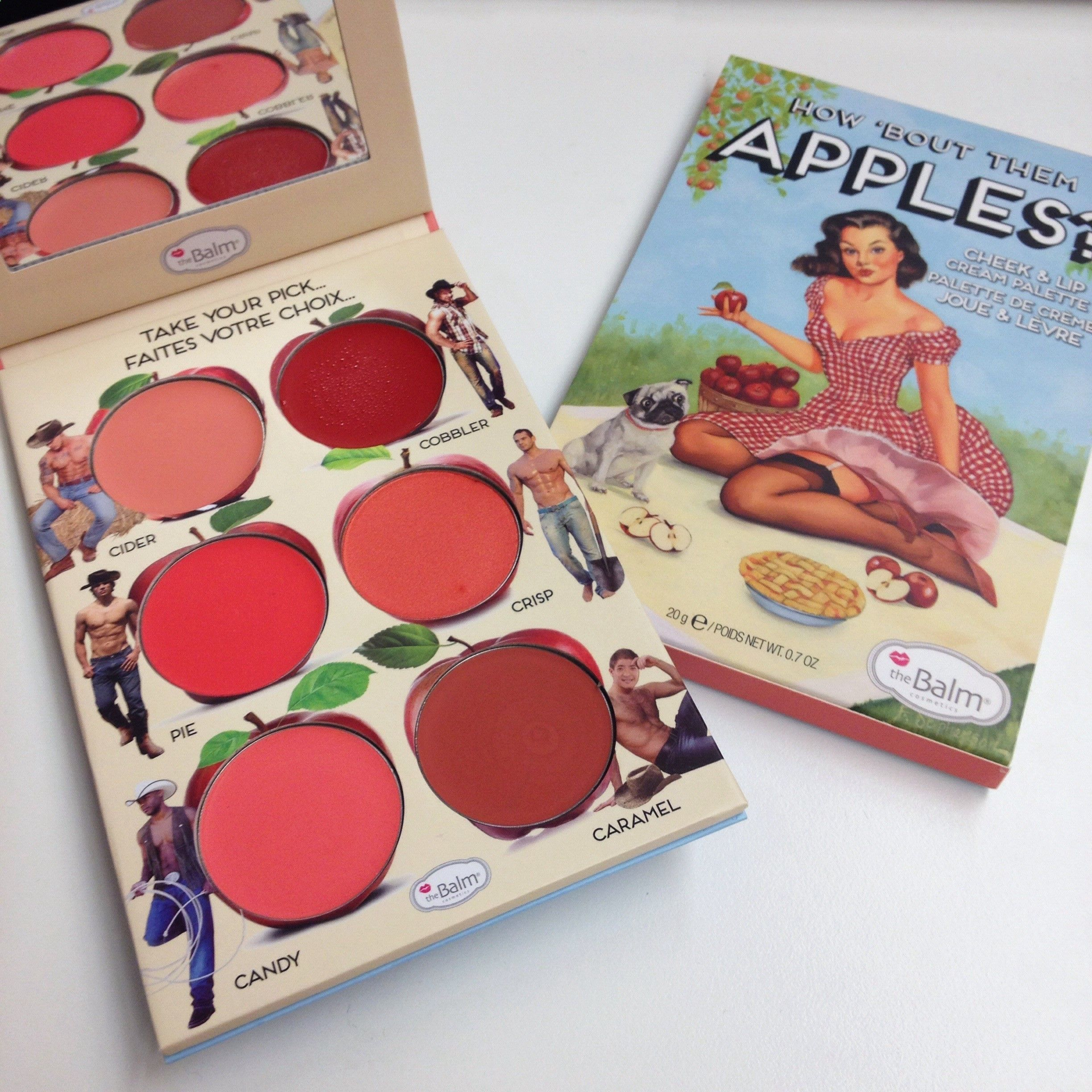 About them apples cheek palette from the balm omg! Need