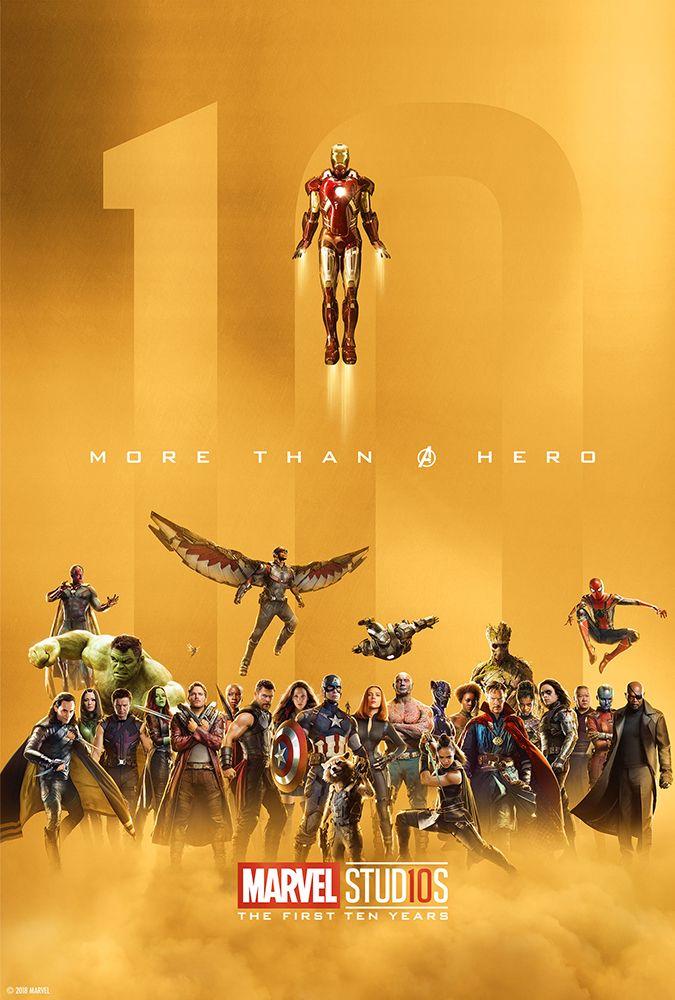 Marvel Studios 10 year anniversary commemorative posters - cool post