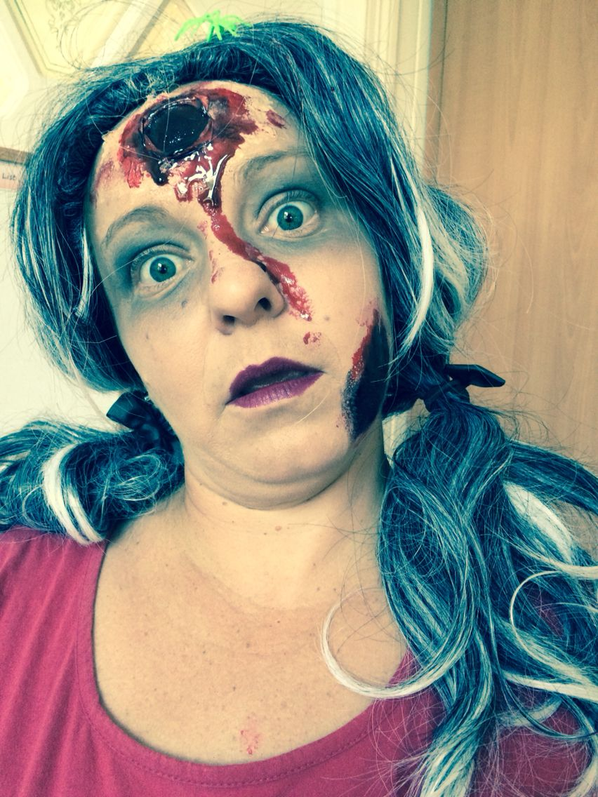 Special effects makeup- gory bullet hole for Halloween Party ...