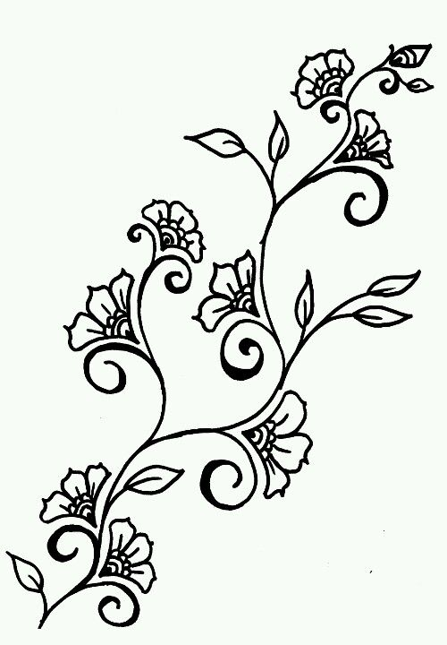 Floral Vine Stencils Flower Vine Tattoos Vine Tattoos Vine Drawing