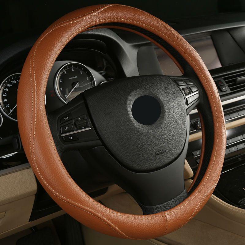 2017 Hot Sell Leather Auto Car Steering Wheel Cover 38cm For Audi A3 A4 A5 A6 Q3 Q5 Q7 2017 2016 2015 2014 2013 Patriot Car Car Steering Wheel Cover Car Front