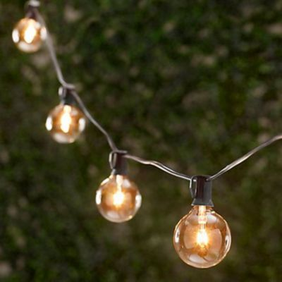 Light Bulbs On A String Delectable Globe String Lights  Ballard Designs 3 3 3  If I Could Have Decorating Inspiration