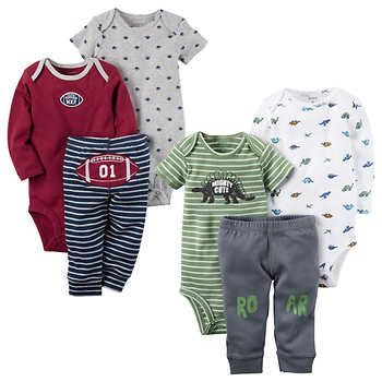 80ab140b6 Carter's Boys' 3-piece Layette Set 2-pack, Dinos and Footballs ...