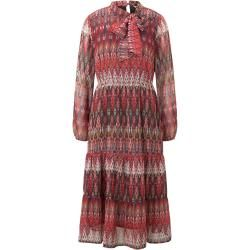 Photo of Tom Tailor Damen Gemustertes Midi-Kleid mit Volant, rot, Gr.44 Tom TailorTom Tailor