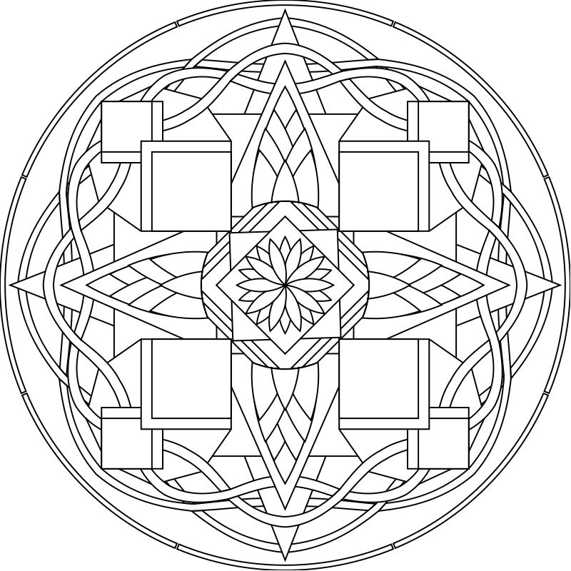 Another Spyderhouse mandala design: I love the curvy celtic edge ...