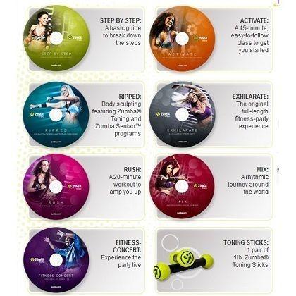 07 DVDS ZUMBA FITNESS EM PORTUGUÊS + BRINDE ABDOMINAL SUPER ...