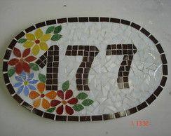 Número de casa de mosaico