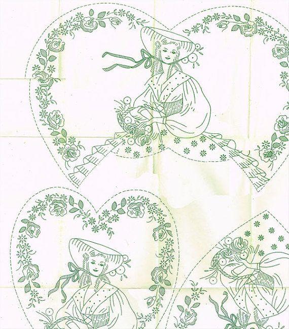1940s Uncut Vintage Mail Order Design Embroidery Transfer - #L w ...