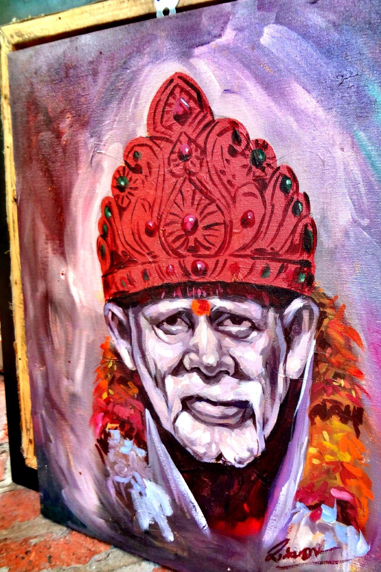 Art Painting of SAI BABA.