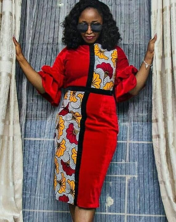 Funky African dress / African print dress for women / African dresses / African clothing