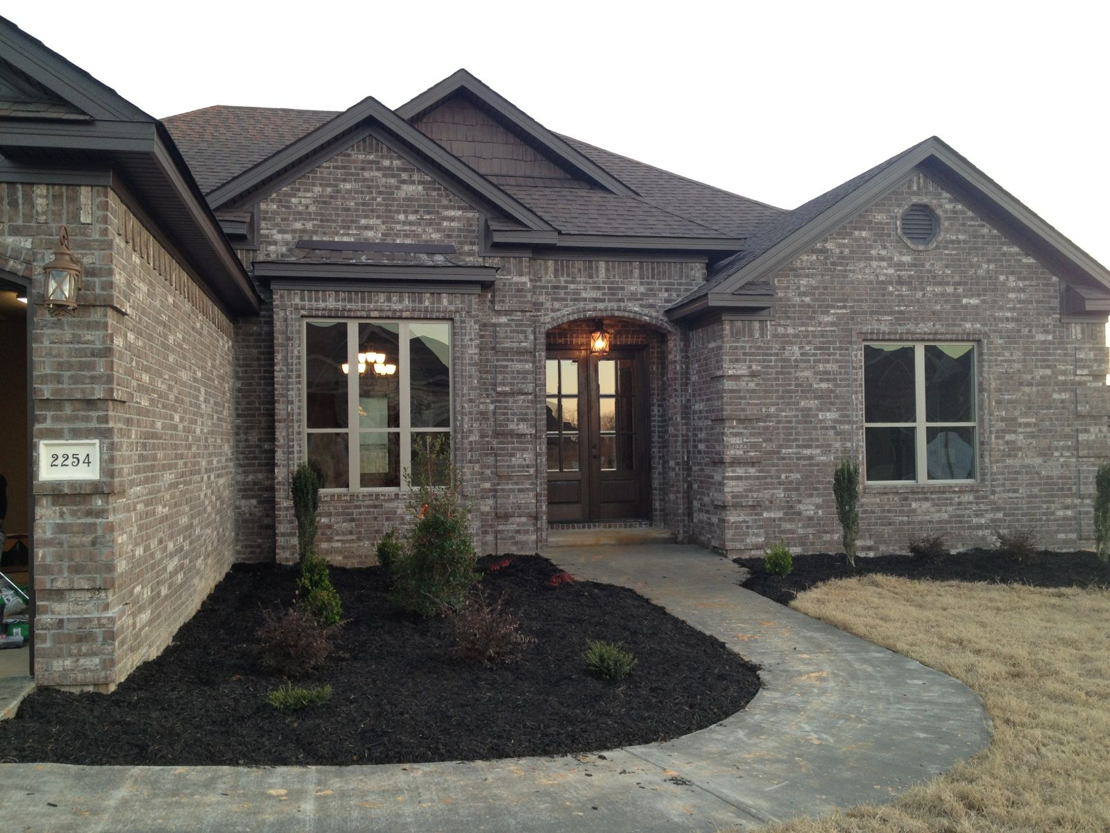 our new house love the brick color home exteriors brick