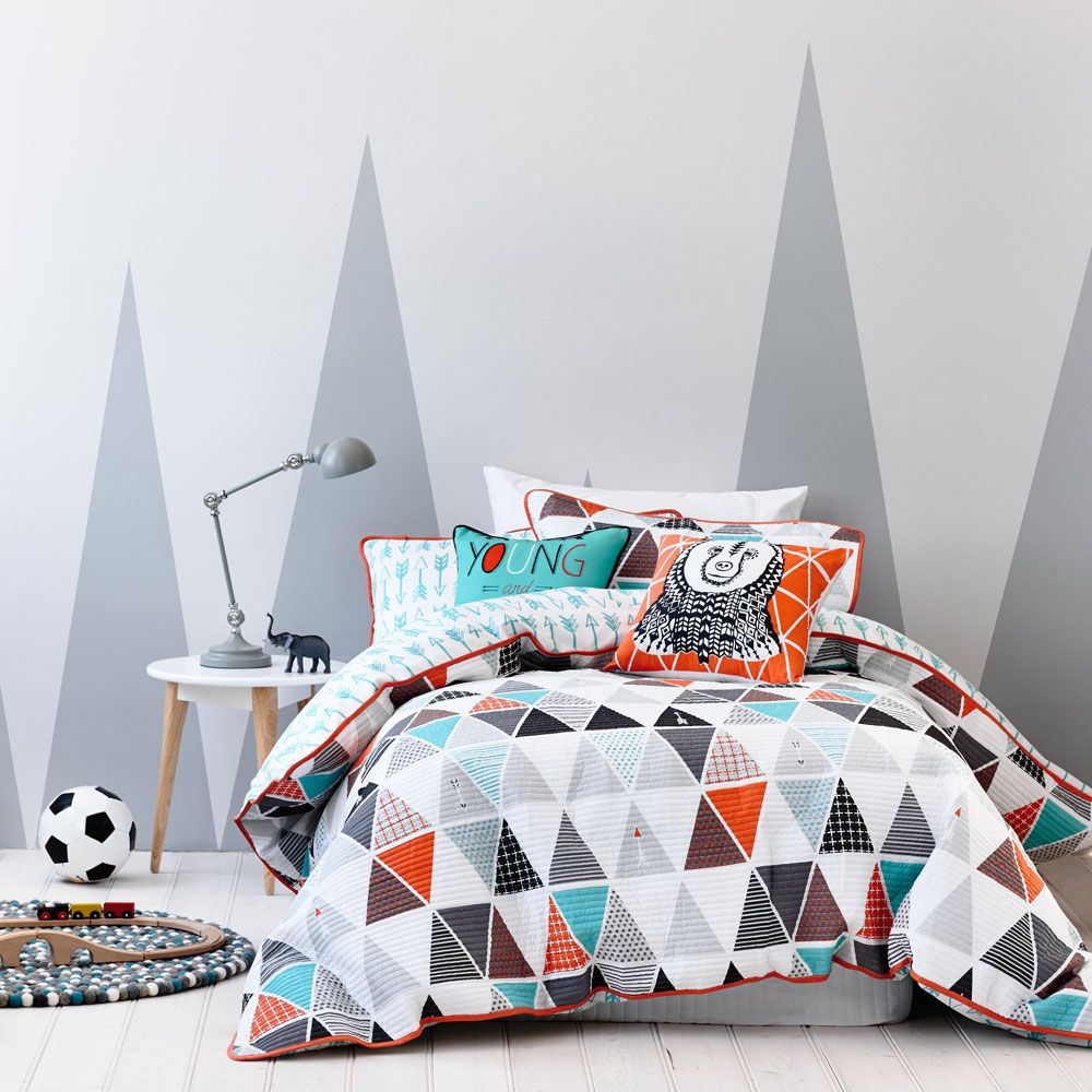 Adairs Kids Tonto Orange   Bedroom Quilt Covers U0026 Coverlets   Adairs Kids  Online