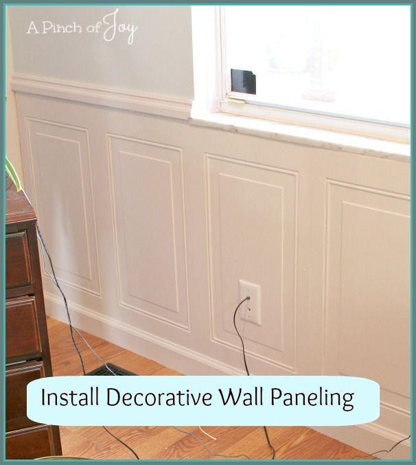 Install Decorative Wall Panel Decorative Wall Panels Wainscoting Panels Wall Paneling