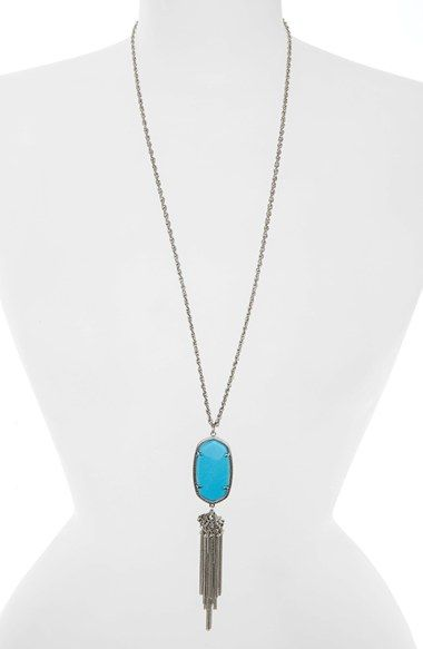 Rayne Stone Tassel Pendant Necklace Tassels Nordstrom and Stone