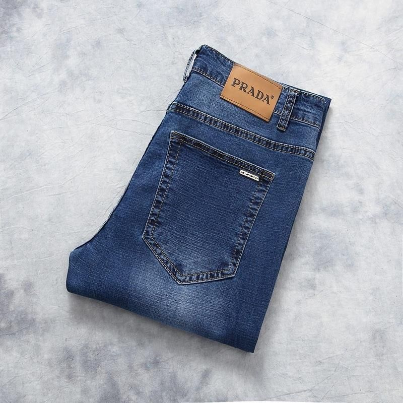 detailed look fdd3b a7452 Prada Brand Men Jeans, 100% Cotton Straight Fit Denim Men ...