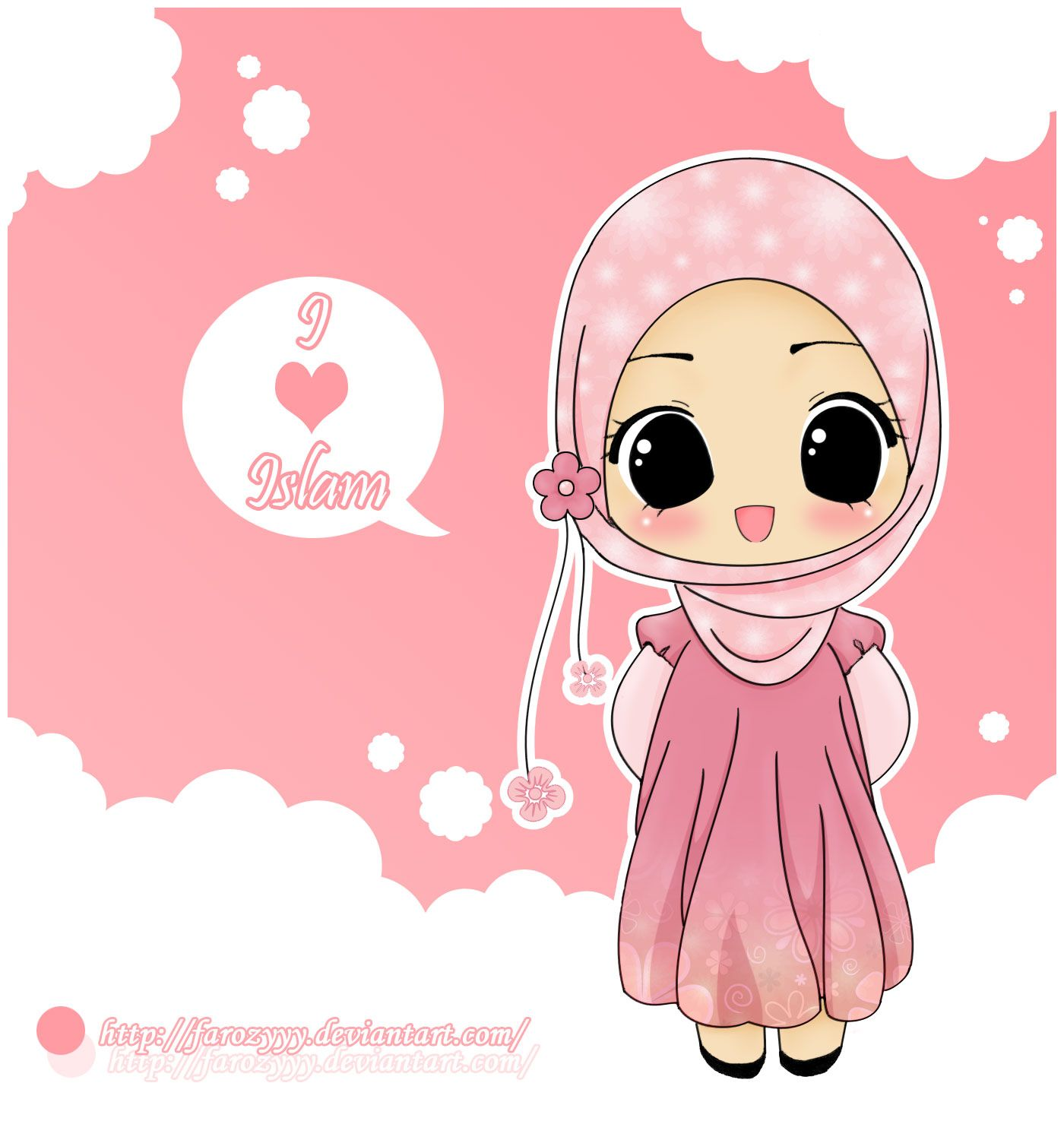 Love Islam Hijab Drawing Cute DIY Projects Pinterest
