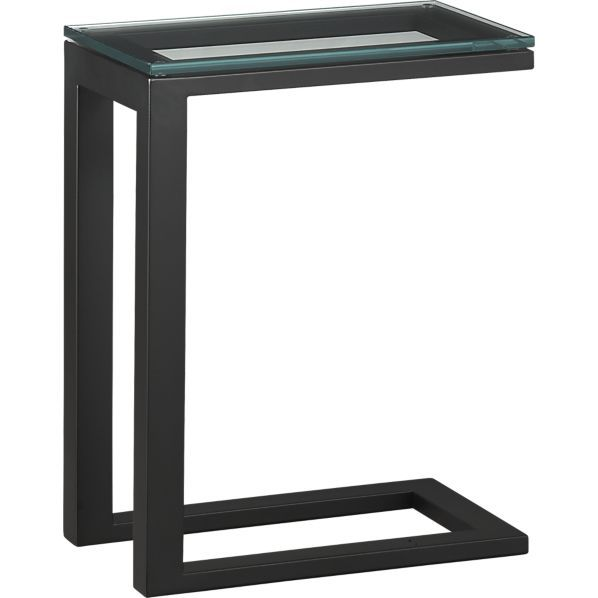 Superb Parsons C Table With Clear Glass Top