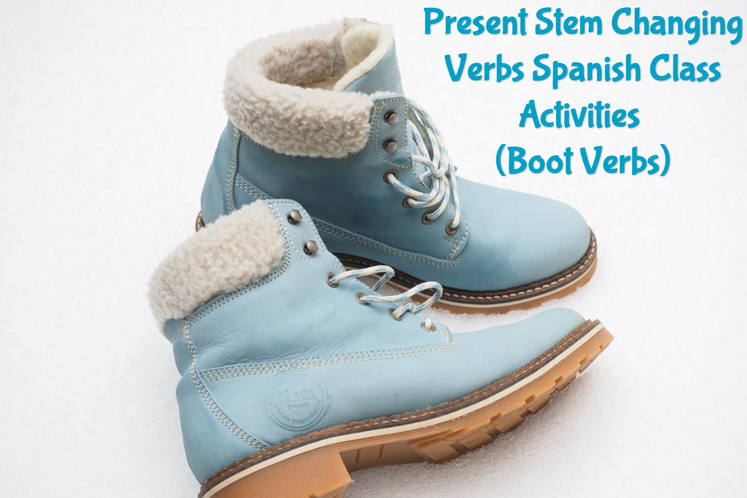 Present Stem Changing Verbs Spanish Class Activities Boot Verbs Blue Winter Boots Womens Fashion Shoes Boots
