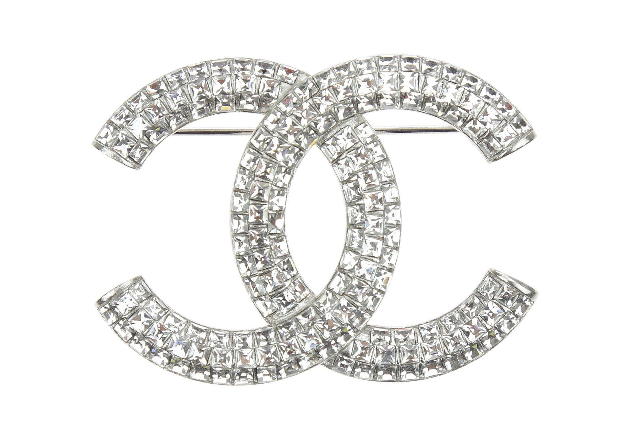 sélectionner pour le dédouanement techniques modernes mode Chanel Silver Swarovski Crystal CC Brooch | Brooches ...