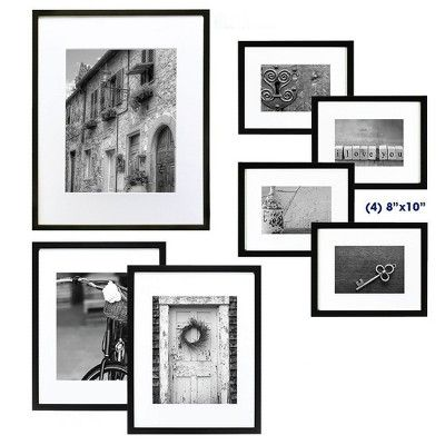 Gallery Perfect 7 Piece Multi Size Wall Frame Set Black In 2018