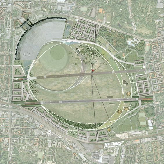 Parklandschaft Tempelhof design competition GROSS.MAX & Sutherland Hussey Architects Berlin