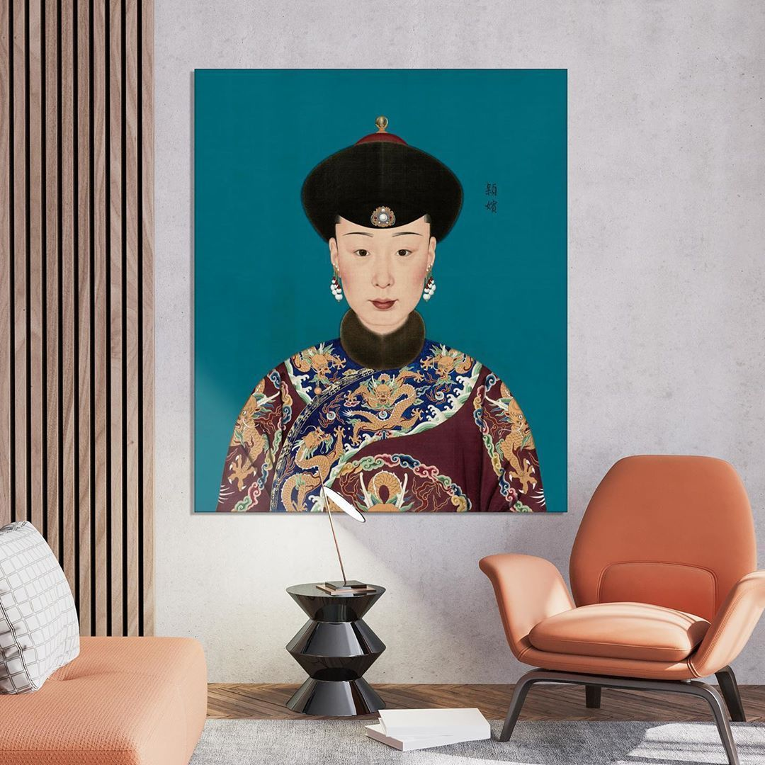 "Wallpixel | Kunst on Instagram: ""There's a new Empress in town. Choose your favorite color 🐲 .⁠ .⁠ .⁠ #chineseartists #muurdecoratie #interieurvintage #adinterieurs…"""