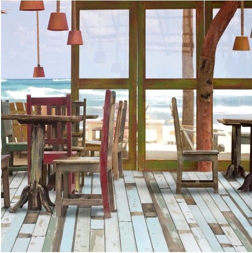 Beach House Decks: Colourful Beach House Cabin Deck Reclaimed Effect From £14
