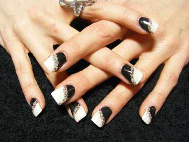 hairstyles black and white nail art tumblr black and