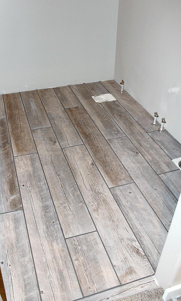 How To Tile A Bathroom Floor With Plank Tiles Wood Tile Bathroom Wood Tile Bathroom Floor Porcelain Wood Tile Bathroom