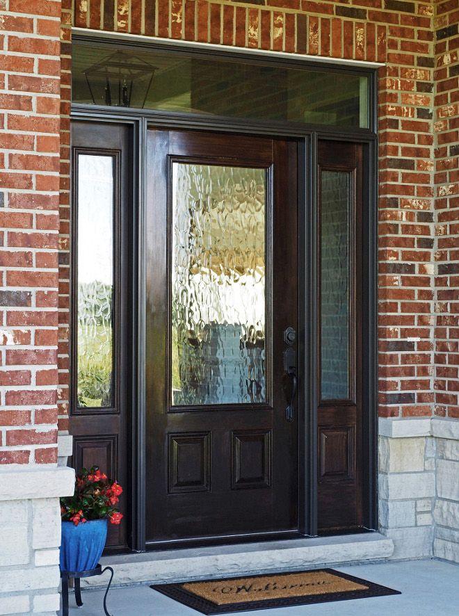 Door Front Door Sidelights And Transom Are Pella Window Door Company Glass Is Obscure On Door And Side Front Door Design Exterior Doors Front Entry Doors