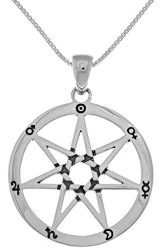 Jewelry trends sterling silver seven point fairy star heptagram jewelry trends sterling silver seven point fairy star heptagram pendant on 18 inch box chain necklace click image to review more details aloadofball Gallery
