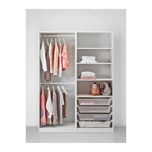 Kleiderschrank PAX weiß, Hasvik weiß   Pax wardrobe, Ikea pax and ...