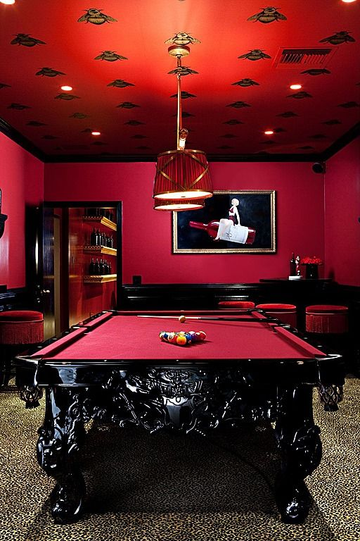 astonishing living room pool table | Contemporary Game Room - Find more amazing designs on ...
