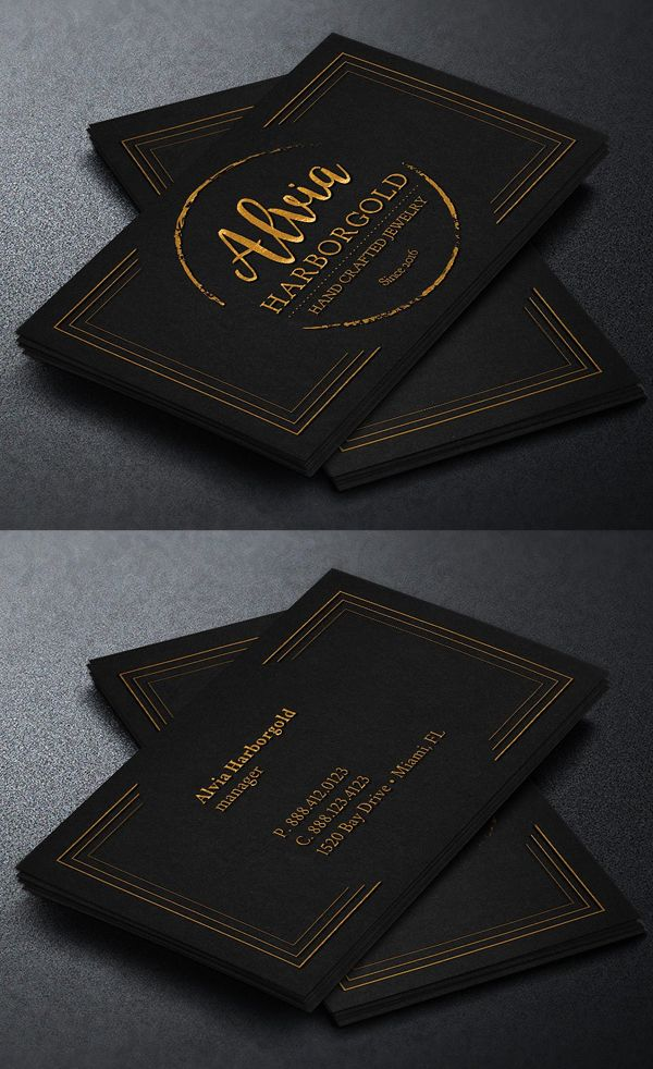 Jewelry Shop Business Card Template Business Cards Pinterest