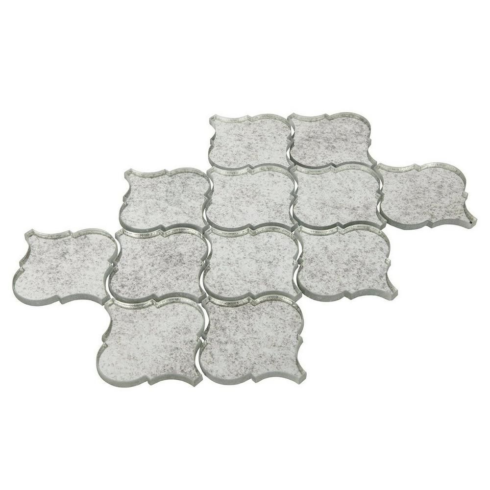 Floor And Decor Arabesque Tile Antique Mirror Arabesque Glass Mosaic  10Inx 14In 100235068