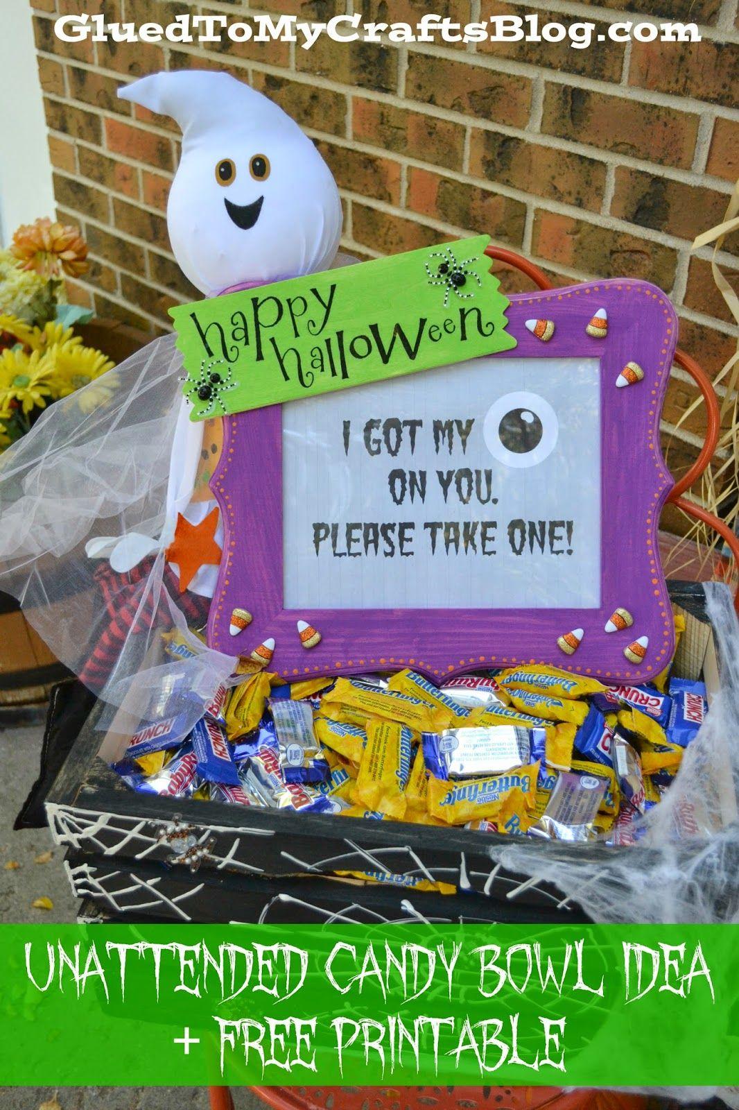 Halloween Candy Ideas.Unattended Halloween Candy Bowl Idea Free Treats4all By Gluedtomycrafts Sofab Shop Halloween Candy Bowl Fall Halloween Crafts Fall Halloween Decor