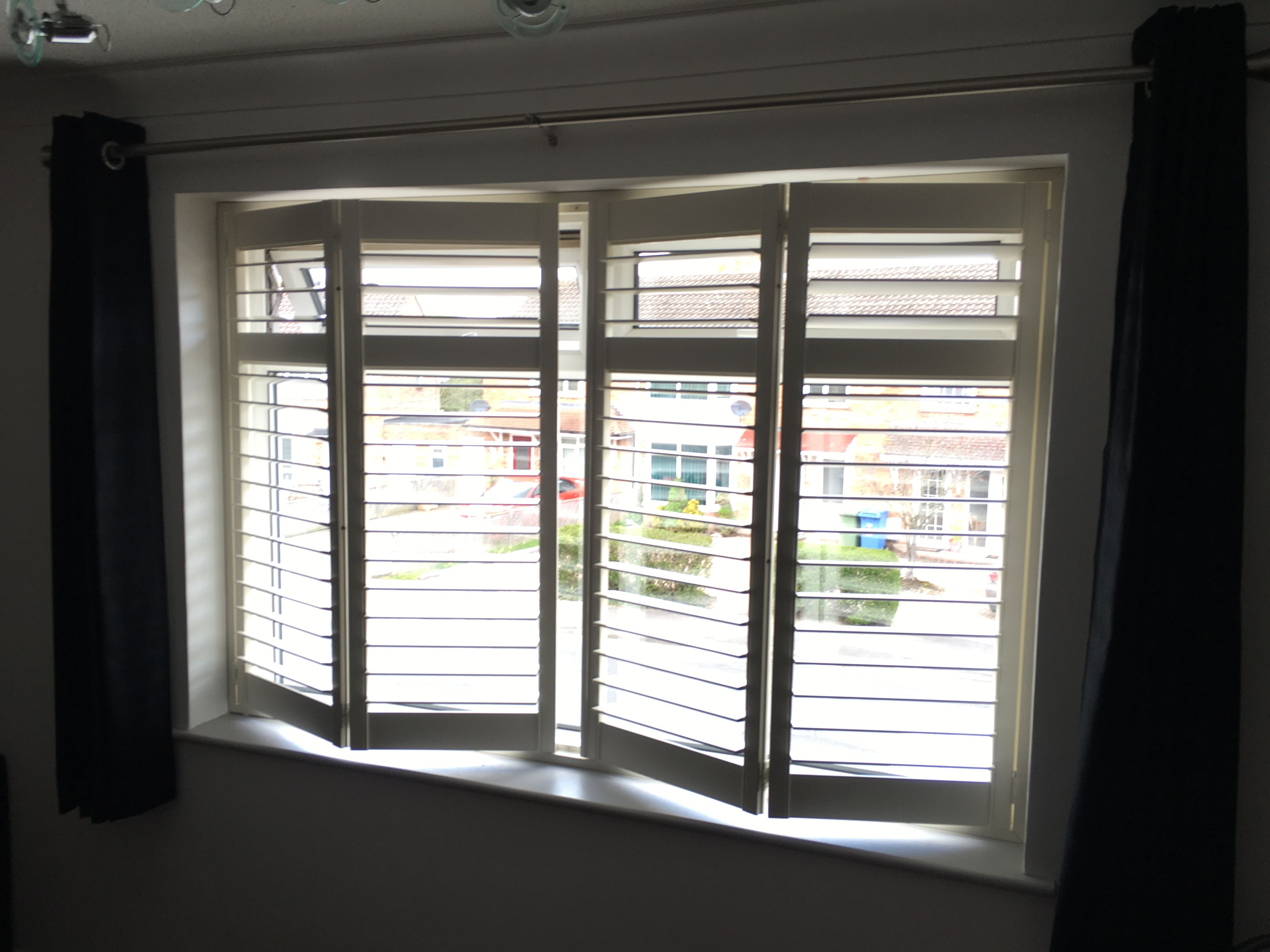 Beautiful Plantation Shutters Hidden Tilt Bar