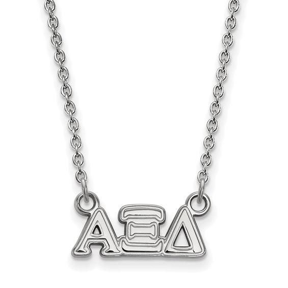 Zales Black Enamel Pi Beta Phi Sorority Necklace in Sterling Silver JfkVct