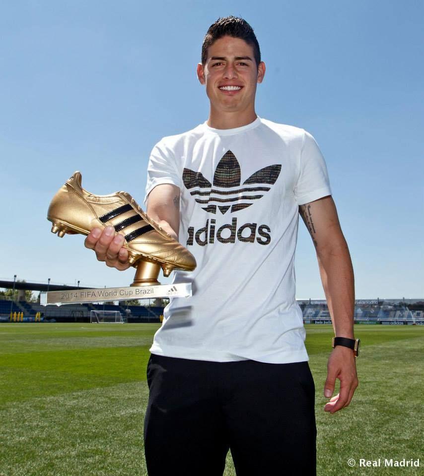 James Rodriguez Golden Boot Award 2014 Fifa World Cup Brazil James Rodriguez James David Rodriguez Rubio Mens Club
