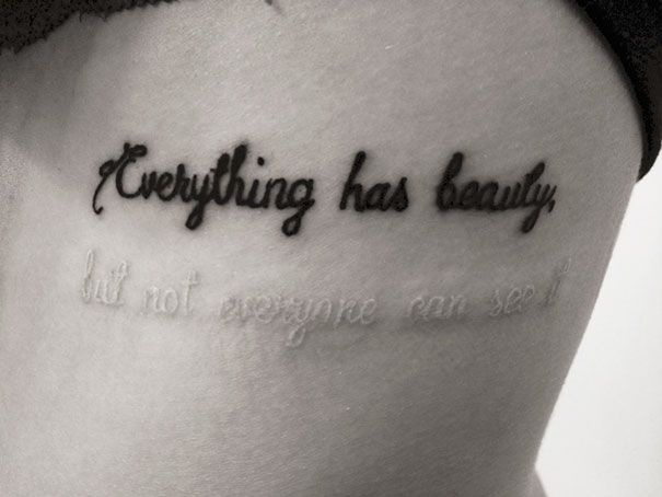 21 Clever Tattoos That Have A Hidden Meaning Tattoo Quotes White Ink Tattoo Tattoos
