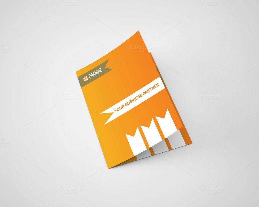 Itu0027s an Orandie Corporate Bi Fold Brochure Template Design for any - bi fold brochure template word