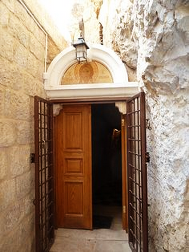 The entrance to the cave where Jesus spent 40 days and 40 nights - Monastery of theTemptation