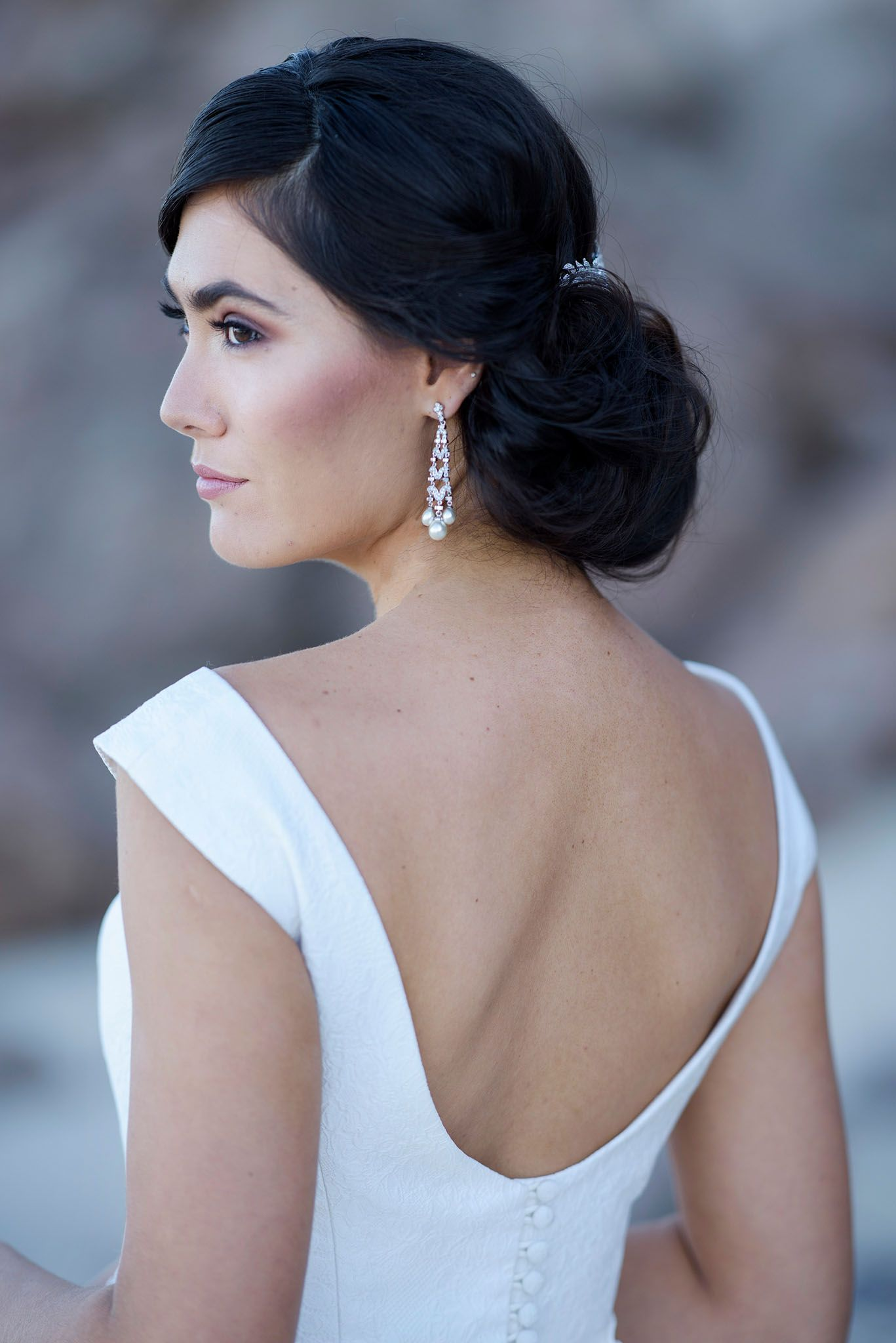 Dramatic Back Detail On The Victoria Bertossi Brides Gown From