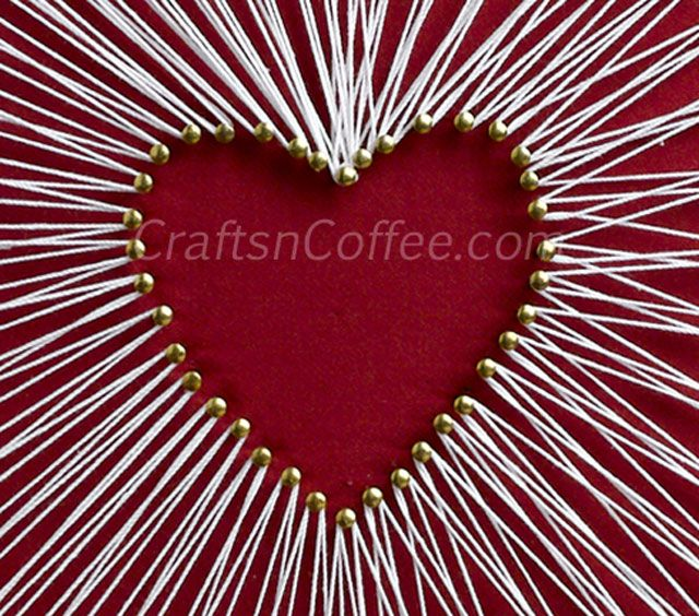 Gallery For Yarn And Nail Art Heart String Art String Art