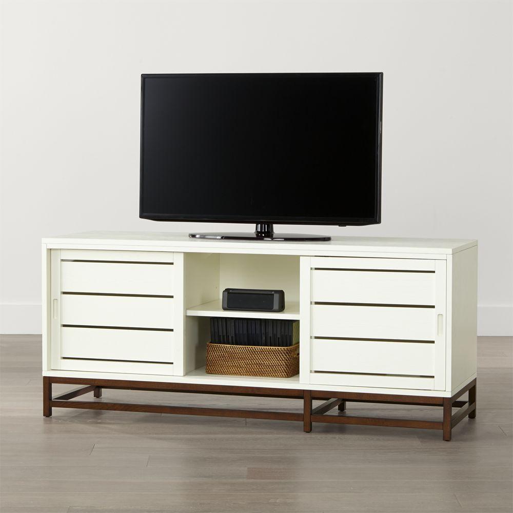 Clapboard White 60 Media Console Home Decor Living Room