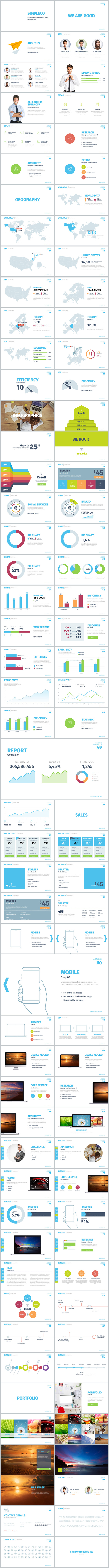 simpleco: minimalistic business powerpoint template | simple, Presentation templates