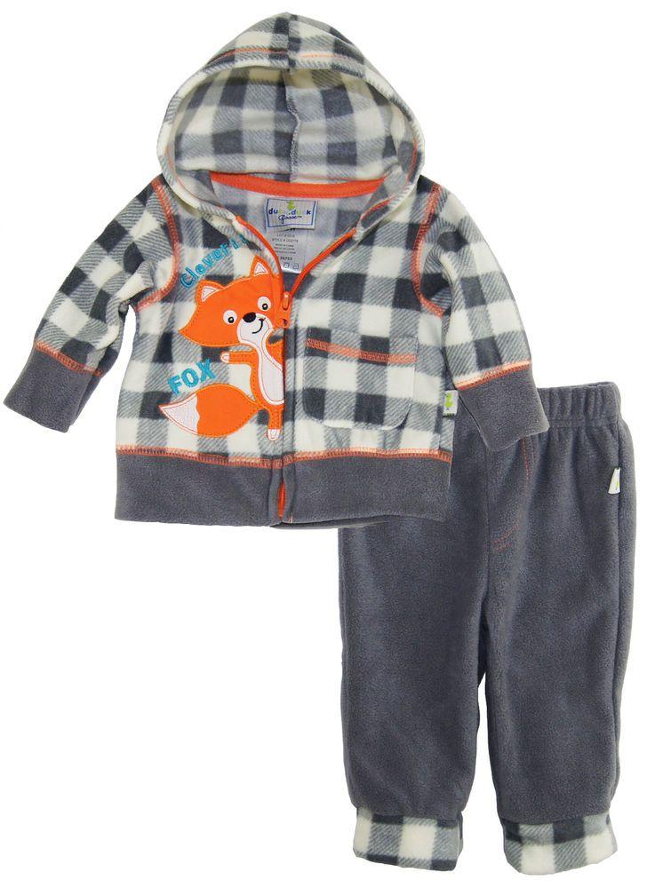 365ad1fbc Duck Goose Baby Boys Clever As A Fox Micro Polar Fleece Hooded ...