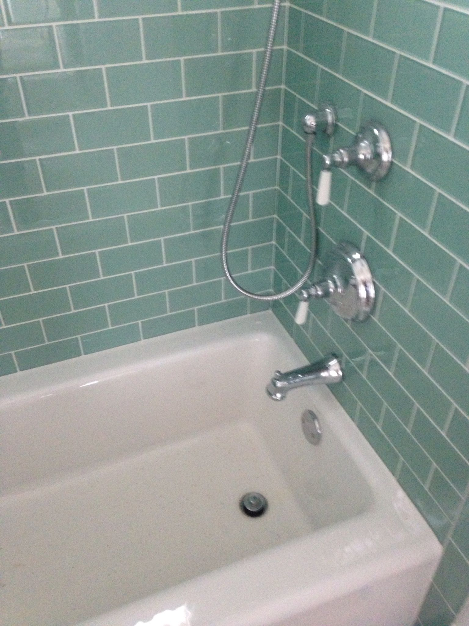 Timeless Bathroom Tile I Love The Teal Subway Tile James It Ll Look Good With Grey Walls Mold In Bathroom Bathroom Wall Tile Polished Bathroom