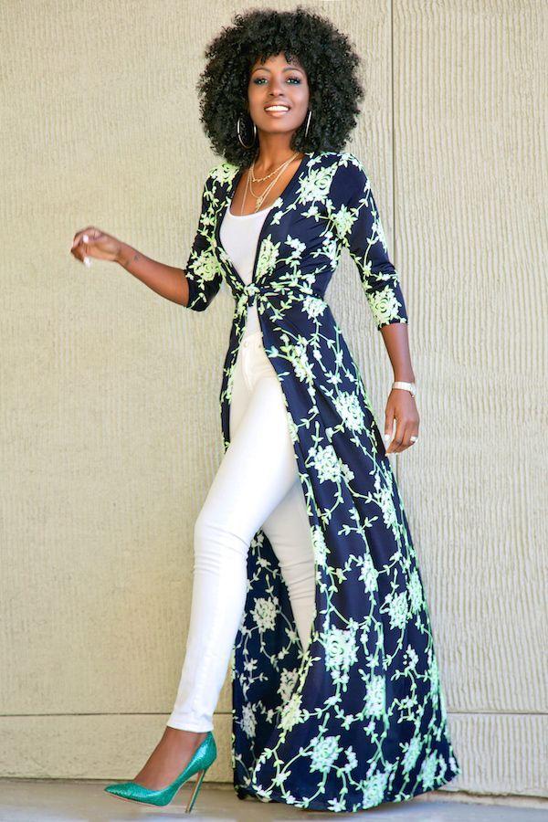 e218b6e3c844 African Print Kimono worn over pants